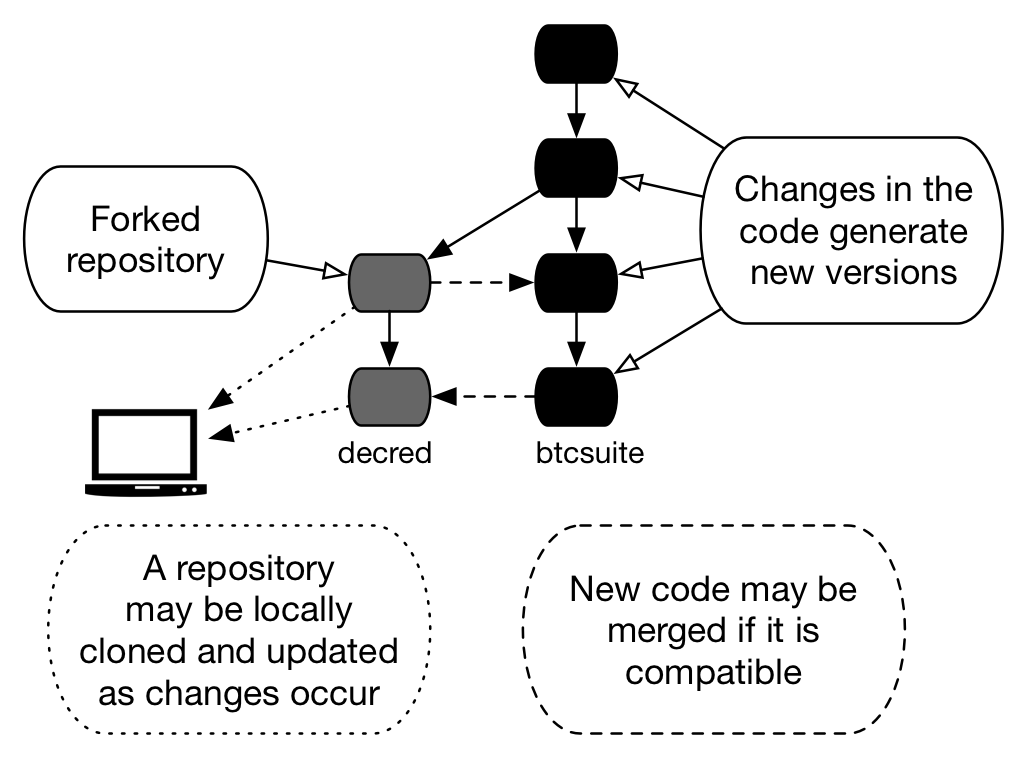 Figure 1 - Source code repository fork